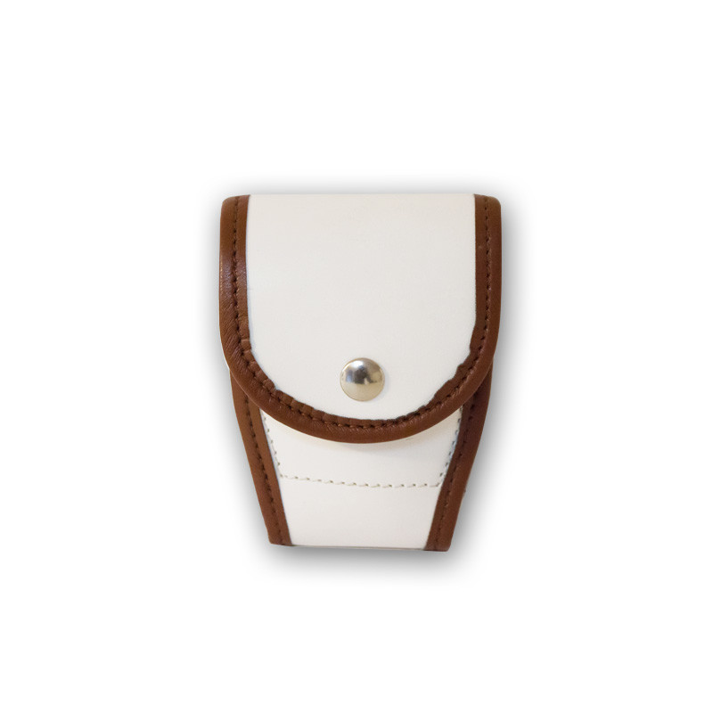 Porta Manette bordato in pelle